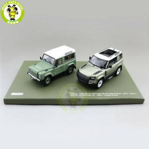 1/43 2-car Set Almost REAL Land Rover Defender 90 Diecast Model Toys Car Gifts