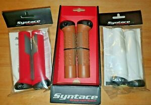 Syntace Screw On Moto Gripz 1 5/16in Handlebar Grips 5 3/8in Black White Red