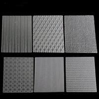 6pcs/set Plastic Fondant Cake Mold Fabric Cake Texture Mat Sugarcraft Decor Shan