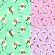 Printed Polyester Cotton Fabric - Bumble Bees - 7504