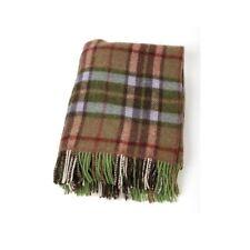 John hanly Irish wool Green Check Blanket Throw 186