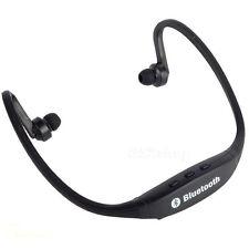 New Black Bluetooth Wireless Headset Stereo Sport Headphone Earphone Handfree