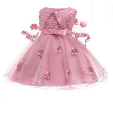 Girls Kids Lace Cloak Tutu Dress Baby Flower Princess Baby Elegant Party Wedding