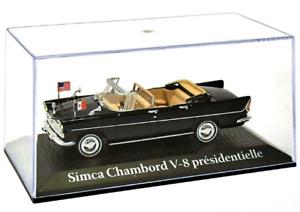 JOHN F KENNEDY De GAULE SIMCA CHAMBORD V8 1:43 Scale Model Toy Car Miniature jfk