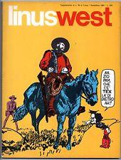 LINUSWEST supplemento a LINUS n.56 1969 kit carson salgari g.l. bonelli tex west