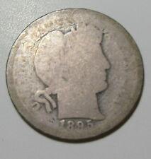 1895 Barber Dime (#611I)
