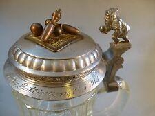 Cono BIRRA BOCCALE COPERCHIO berrete vetro Stagno Coperchio Club cono cono Verein Göttingen 1913