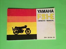 "YAMAHA FS1E FIZZY FS1 FS1-E 1973 ""SS"" OWNERS MANUAL"