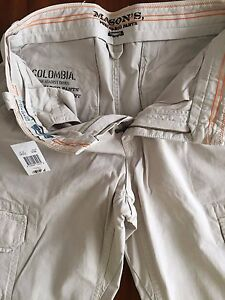 """MASON'S COLOMBIA WAR AGAINST THE DRUGS"""" STONE CARGO PANTS(SIZE30  ITALY46 )$325"""