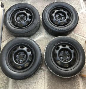 "Volkswagen Lupo Genuine 13"" Steel Wheels And Tyres Full Set"
