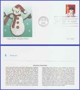 USA5 #3677 U/A FLEETWOOD FDC   Snowman Blue Plaid Scarf s/a