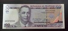 "100 pesos banknote Philippines 2005 ""Arrovo"" serial#AK376390"