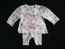 Baby clothes GIRL premature/tiny<7lbs/3.2kg TU outfit pink,roses top/leggings LS