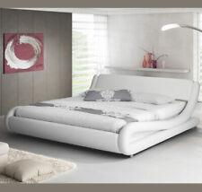 Cama de matrimonio Alessia en color blanco (150x190cm)