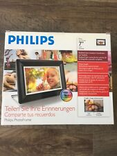 """Philips 7"""" Photo Frame LCD 7FF3FPB, Black Color, Used Once"""