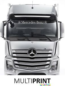 Mercedes Benz Lorry Truck Windscreen Sticker Decal Cab Window Glass HGV LOR2
