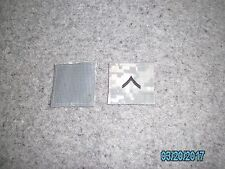 Used GI Issue ACU PVT (E-2) Rank Patch (Hook & Loop Back) Rank Patch