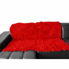 Luxury 100% Genuine Real Rabbit Fur Throw Soft Warm Bedspread Blanket King Red