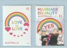 Australia 2019 : Marriage Equality, Set of 2 x $1.00 Stamps, Mint Never Hinged