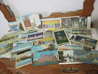 Vintage Lot of 280 Linen Post Cards Unused US Cities and National Parks 1940's