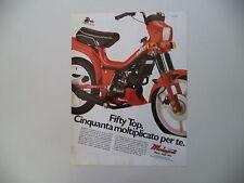 advertising Pubblicità 1985 MALAGUTI FIFTY TOP 50