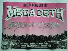 MEGADETH  1987  TOUR - orig. Concert Poster - Konzert Plakat  A1  NEU