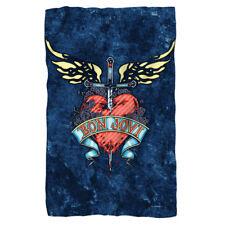 Bon Jovi Rock Band Logo Sword Heart WEATHERED DENIM Lightweight Fleece Blanket