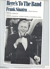 "FRANK SINATRA ""HERE'S TO THE BAND"" SHEET MUSIC-EXTREMELY RARE-BRAND NEW ON SALE!"