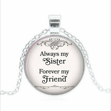 Always my Sister Tibet silver Glass dome Necklace chain Pendant Wholesale