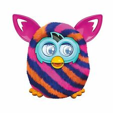 Furby Boom Diagonal Stripes Plush Toy Interactive with Furblings