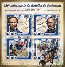 More details for mozambique military stamps 2015 mnh american civil war battle bentonville 4v m/s