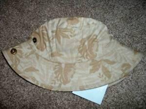 Gymboree Baby Boys Tiny Paradise Tan Leaf Sun Hat 0-6 months 0-3 3-6 mos NWT NEW