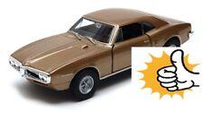 Gold beige 1967 '67 Pontiac Firebird modellauto model car Welly diecast 1:36