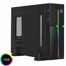 Slim SFF RGB LED Aerocool Playa ITX/Micro ATX Mini Desktop Tower PC Case UK