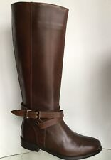 BURBERRY Ankle Strap Brown Leather Riding Boots (Size 35.5)