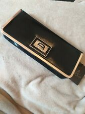 Juno Black and Gold Black Womens  Christmas/ Party/ Evening/ Wedding  Clutch Bag