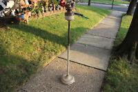 Antique Victorian Floor Standing Kerosene Lamp Torch Holder Parlor Lamp-Metal