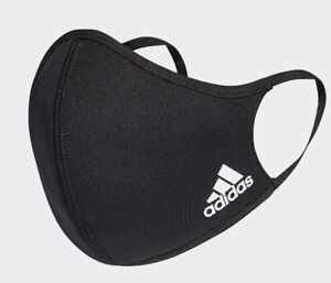 Black Adidas Face Mask Cover Reusable Size M/L Brand New
