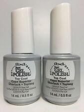 2 PACKS - IBD Soak off Just Gel Polish LED UV Nails - TOP COAT- 0.5 oz/ 15 ml