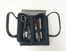 5-Piece Stainless Steel Manicure Set in Black Zipper Case New In Bent Box