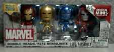 """MARVEL MINI BOBBLE HEADS - IRON MAN HALL OF ARMOR ACTION FIGURES - 4 PACK - 2"""""""