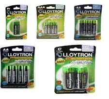 Lloytron AA, AAA ,9V & C  Rechargeable Batteries HR03 HR6 NiMH 1.2V Phone Camera