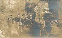 C-1910 Logging Lumber Occupation Workers RPPC Photo Postcard 20-2765