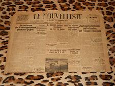 Le Nouvelliste de Bretagne n° 244, 1er octobre 1940