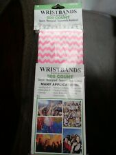 WRISTBANDS 500: SECURE Waterproof Sequentially Numbered Pink & White Chevron