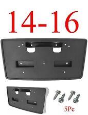 GM1068155  5Pc 14 15 16 Chevy Silverado Front License Plate Bracket, W/ Hardware