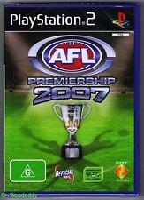 PS2 AFL Premiership 2007, UK Pal, Brand New & Sony Factory Sealed