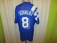 "FC Schalke 04 Original Adidas Heim Trikot 1994/95 ""Kärcher"" + Nr.8 Gr.XL"