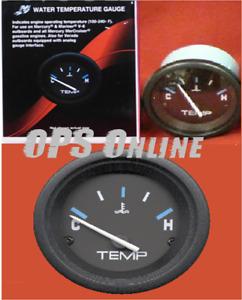 Mercury Marine Analog Gauge - Black 120 - 240 Deg F Temperature Gauge 895287A01