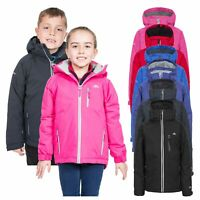 Trespass Cornell II Kids Waterproof Jacket Reflective Raincoat with Hood